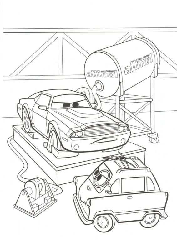 kleurplaat cars disney