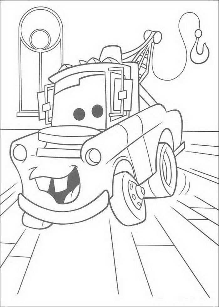 Kleurplaat Cars Pixar Takel In De Rechtzaal Kleurplaten