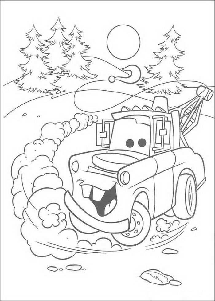 Coloring Page Cars Pixar Cars Pixar Kleurplaten Kerstmis