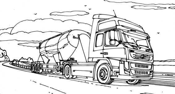kleurplaat cars vrachtwagen