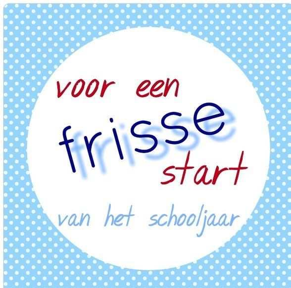 Begin Schooljaar Naar School Eerste Schooldag 1e Schooldag En