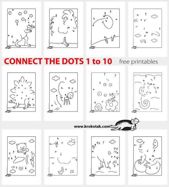 Connect The Dots 1 To 10 Werkbladen Kleurplaten Wiskunde