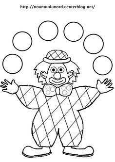 Coloriage Clown Arlequin Jongleur Dessine Par Nounoudunord