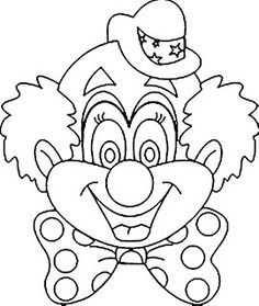 kleurplaat clown tekenen