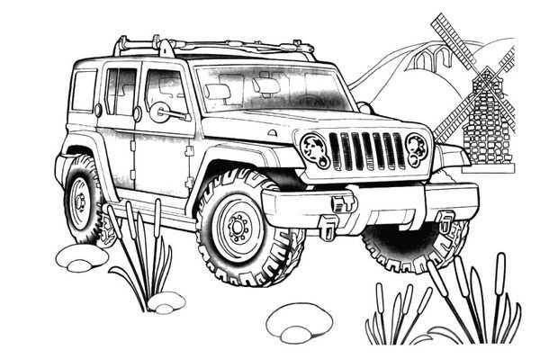 Wrangler Unlimited For The Jeep Coloring Book Cars Coloring