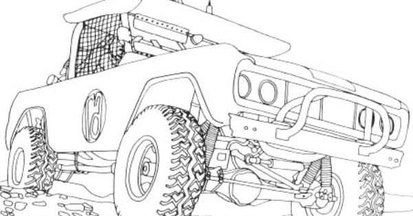 Jeep Off Road Coloring Page Off Road Car Car Coloring Pages