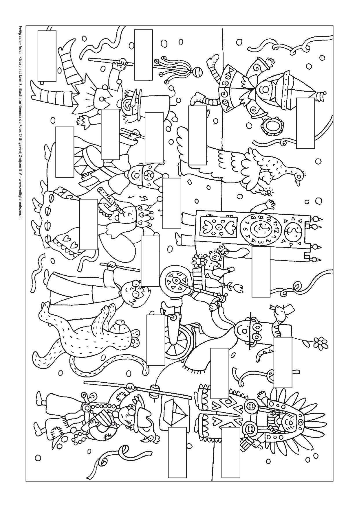 Kleurplaat Kern 8 Met Opdracht Veilig Leren Lezen Leren Lezen