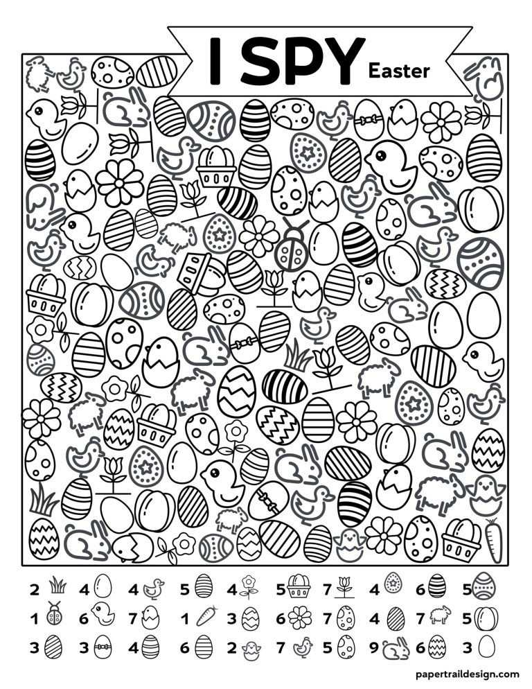 Free Printable I Spy Easter Activity In 2020 Met Afbeeldingen