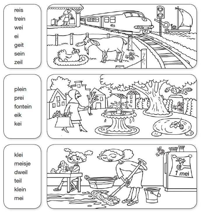 Ei Woorden Steunkaart Van Veilig Leren Lezen Kim Versie Woorden