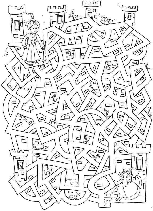 Welkom Bij Dover Publications Kleurplaat Doolhof Met Afbeeldingen