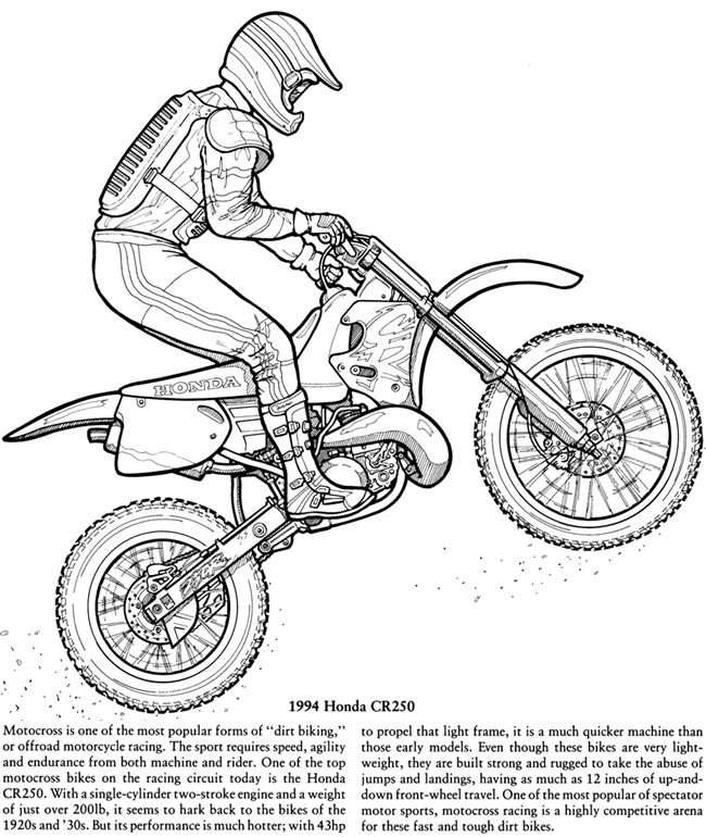 Motorcycles Coloring Book Dover Publications Coloring Books