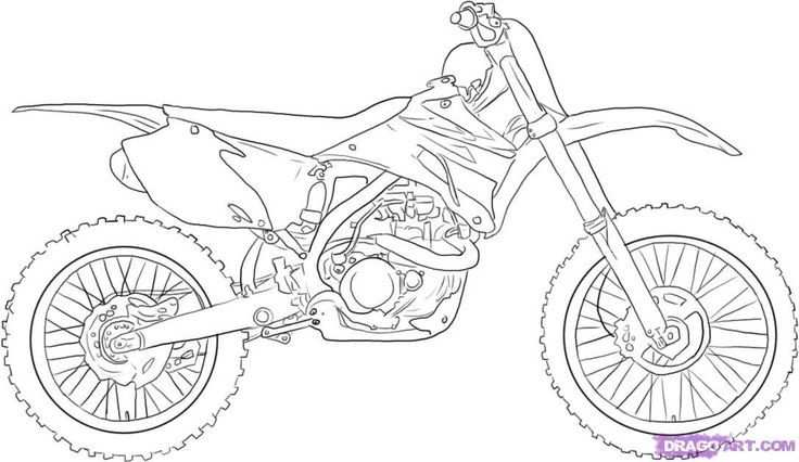 How To Draw A Dirt Bike Step 5 With Images Bike Drawing