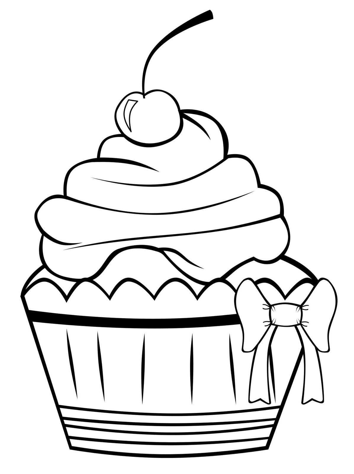 Free Printable Cupcake Coloring Pages For Kids Met Afbeeldingen