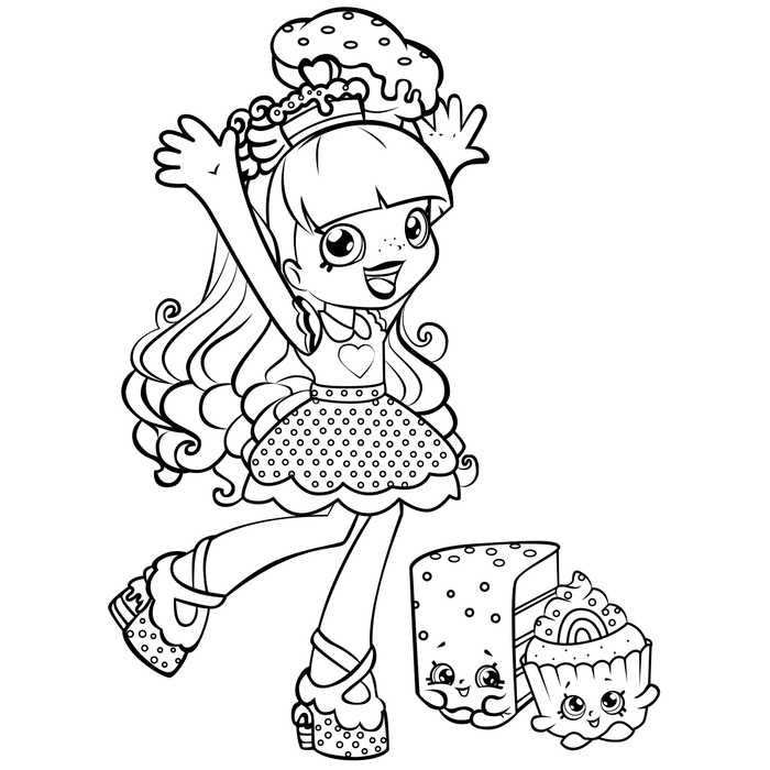 Printable Shoppies Coloring Pages With Images Shopkins