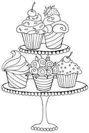 Cupcake Tekenen En Verven Kleurplaat Voor Kinderen Cupcake