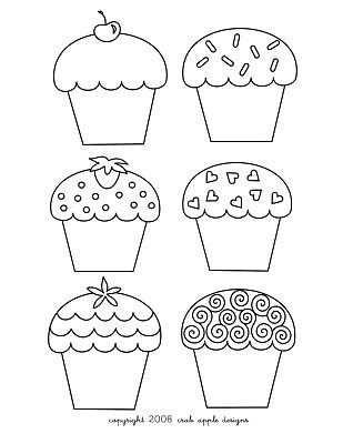 Cute Birthday Cupcake Coloring Pages Met Afbeeldingen