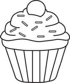 תוצאת תמונה עבור Cupcake Kleurplaat With Images Cupcake