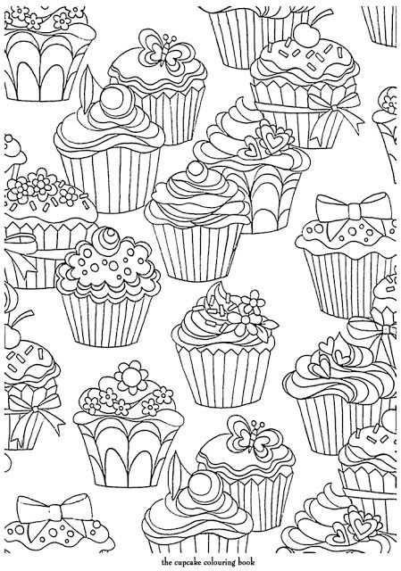 Cupcake Pattern Met Afbeeldingen Kleurplaten Mandala
