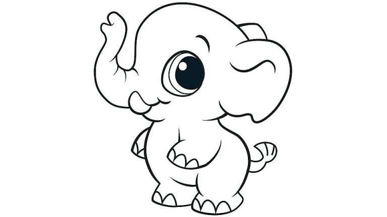 Cute Animal Coloring Pages With Images Elephant Coloring Page