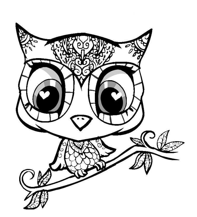 Simple Baby Owl Drawing Cute Baby Owl Drawings Free Mit Bildern
