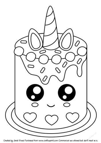 Unicorn Cake Coloring Pages Unicorn Coloring Pages Mermaid