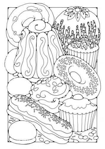 Kleurplaat Gebak Kleurplaten Adult Coloring Pages En Mandala