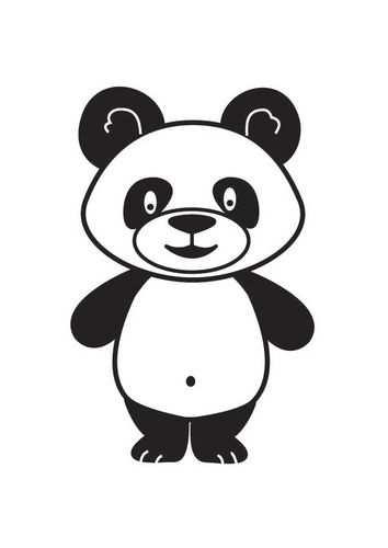 Kleurplaat Panda De Peuterklas Pinterest Panda And Stenciling