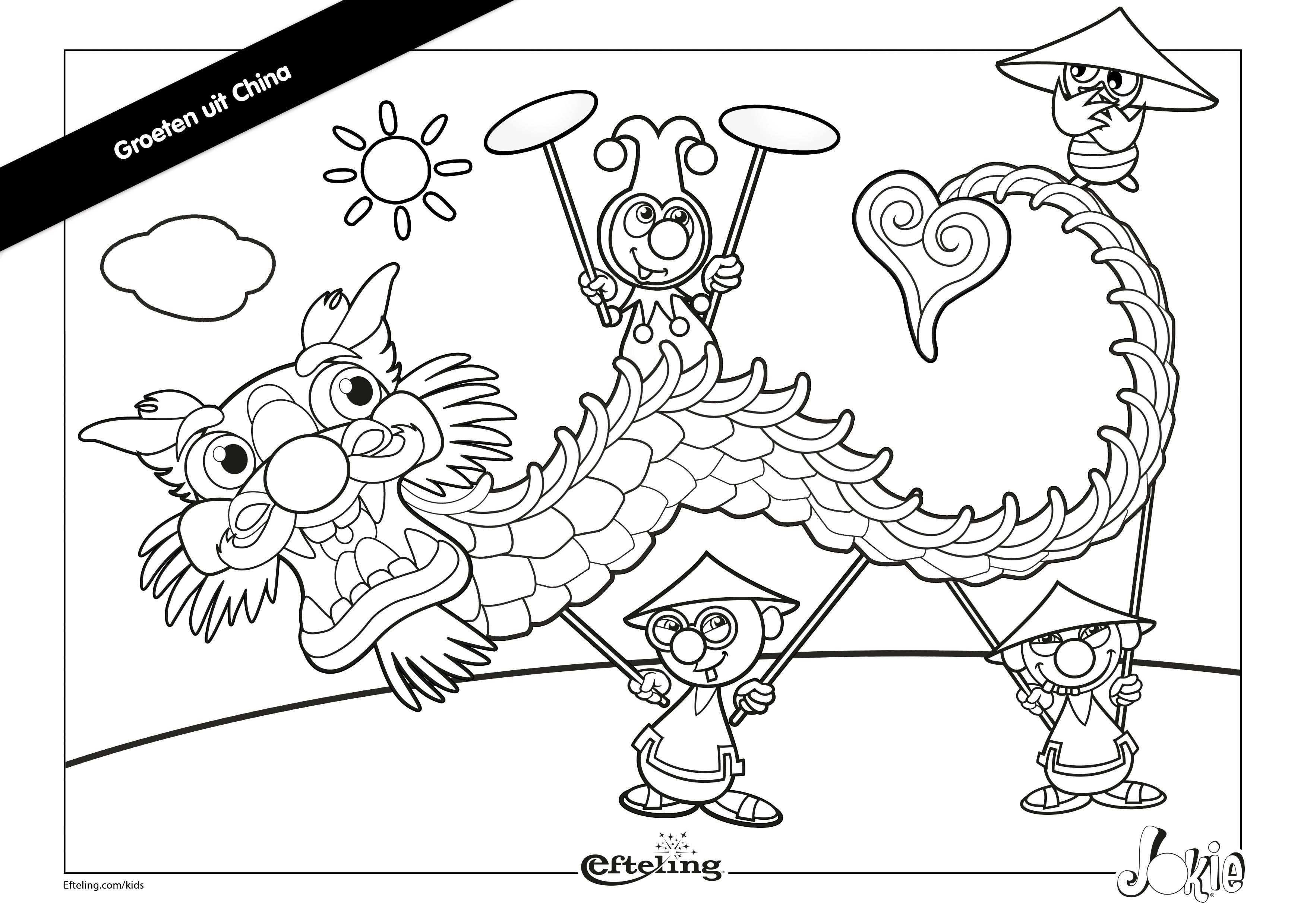 Laat Je Creativiteit Los Met Deze Kleurplaat Van Jokie In China