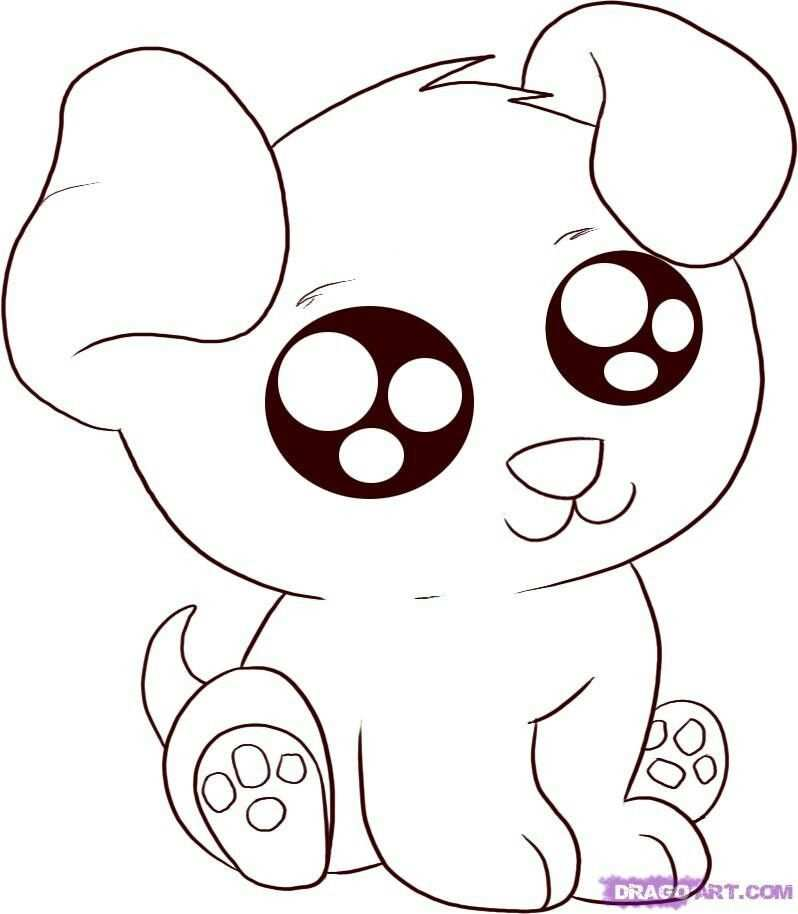 Aww Its So Cute Cute Animal Drawings Puppy Coloring Pages