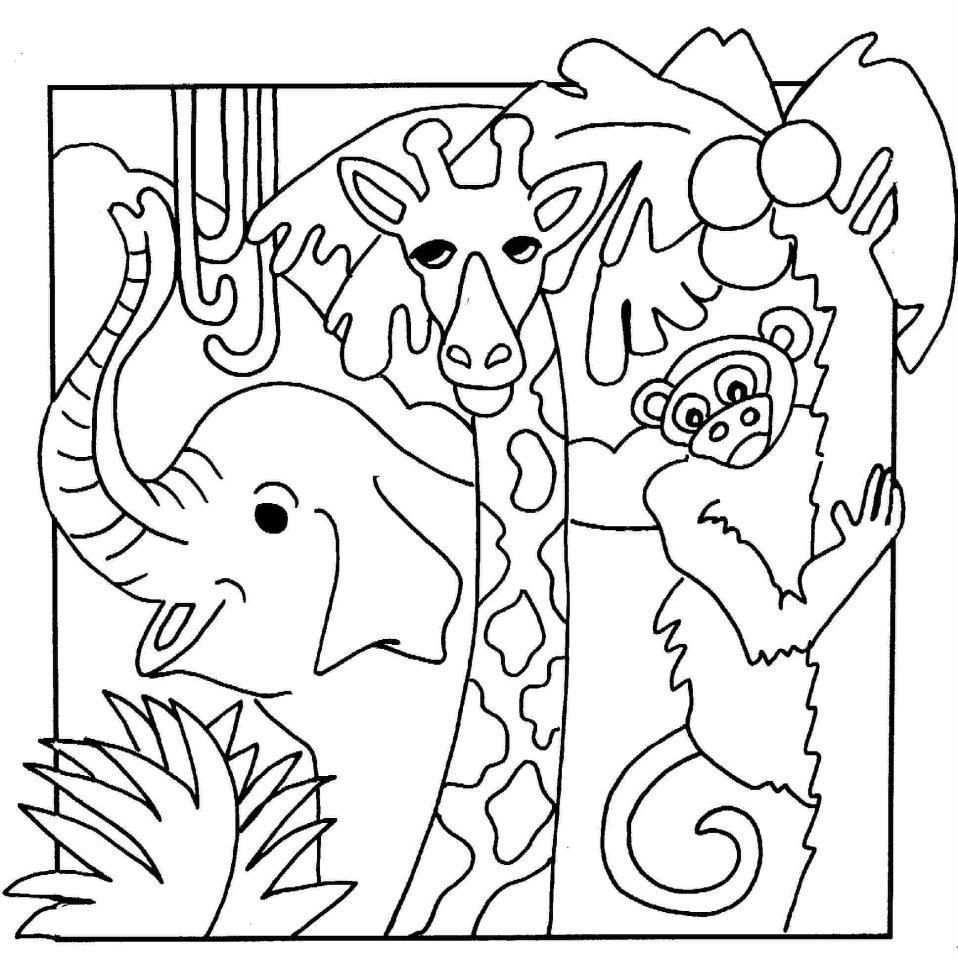 Jungle Coloring Pages Kleurplaten Dieren Kleurplaten En