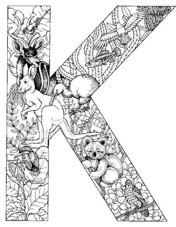 Coloring Page Alphabet Animals Alphabet Animals Mit Bildern