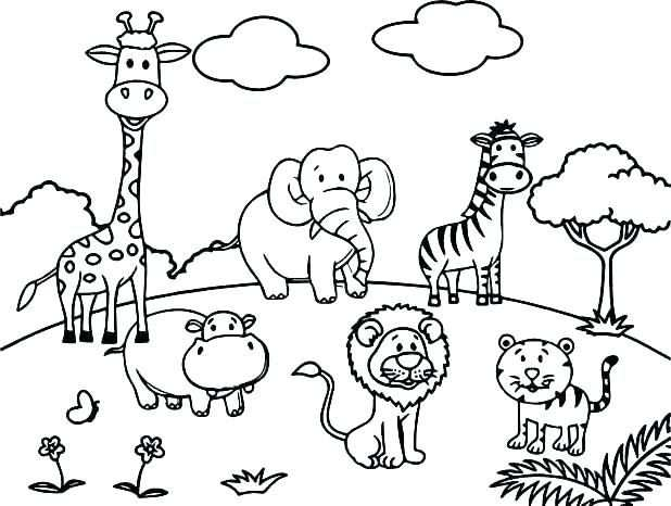 Coloring Zoo Animal Coloring Page Wildlife Pages Animals Cute Baby