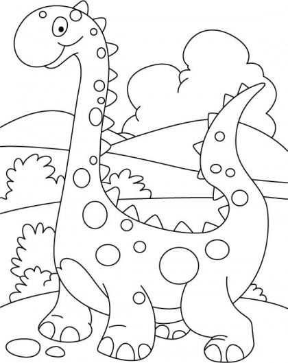 Kleurplaat Dino Tekenen Zwart En Wit Dinosaurios Para