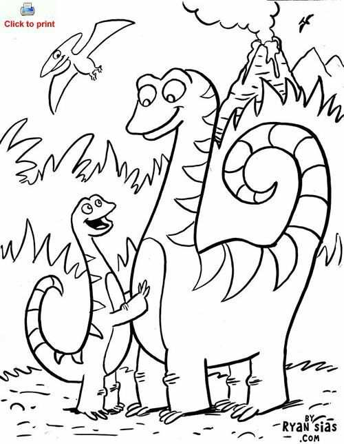 Kleurplaat Dino Kleurplaten Thema Dinosaurus