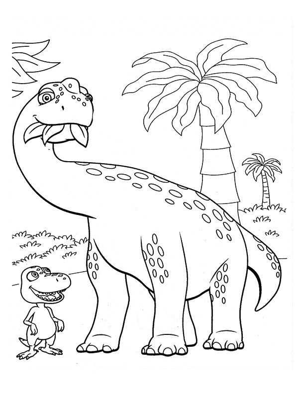 Kleurplaat Dino Kleurplaten Dinosaurus Dinosaurussen