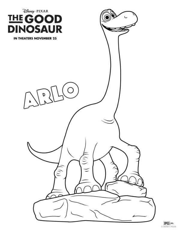 Free Disney The Good Dinosaur Arlo Coloring Page Met Afbeeldingen