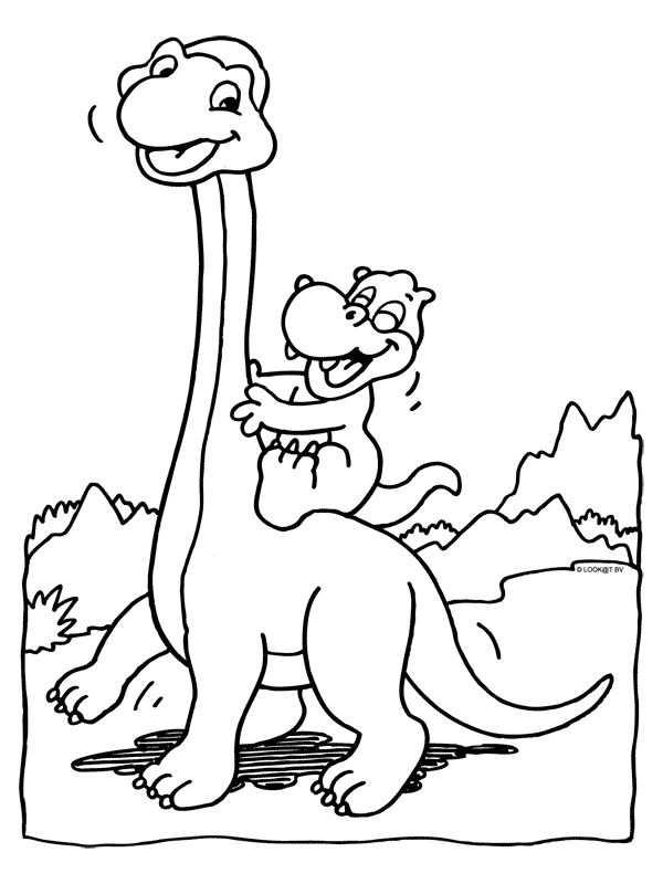 Kleurplaat Dino Met Afbeeldingen Dinosaurus Kleurplaten