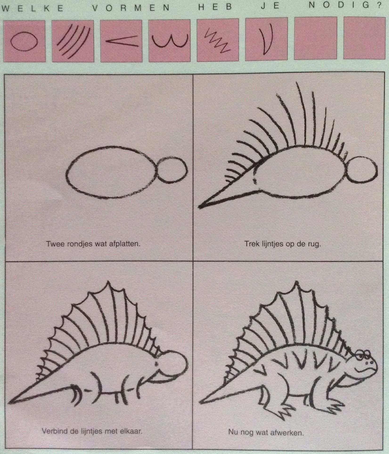 Dino Leren Tekenen Met Afbeeldingen Knutselen Dinosaurus Leer