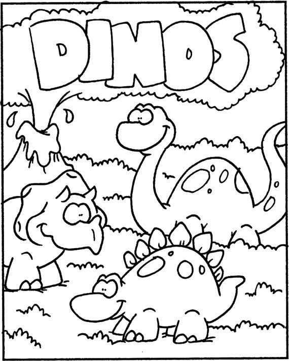 Kleurplaat Dino Met Afbeeldingen Kleurplaten