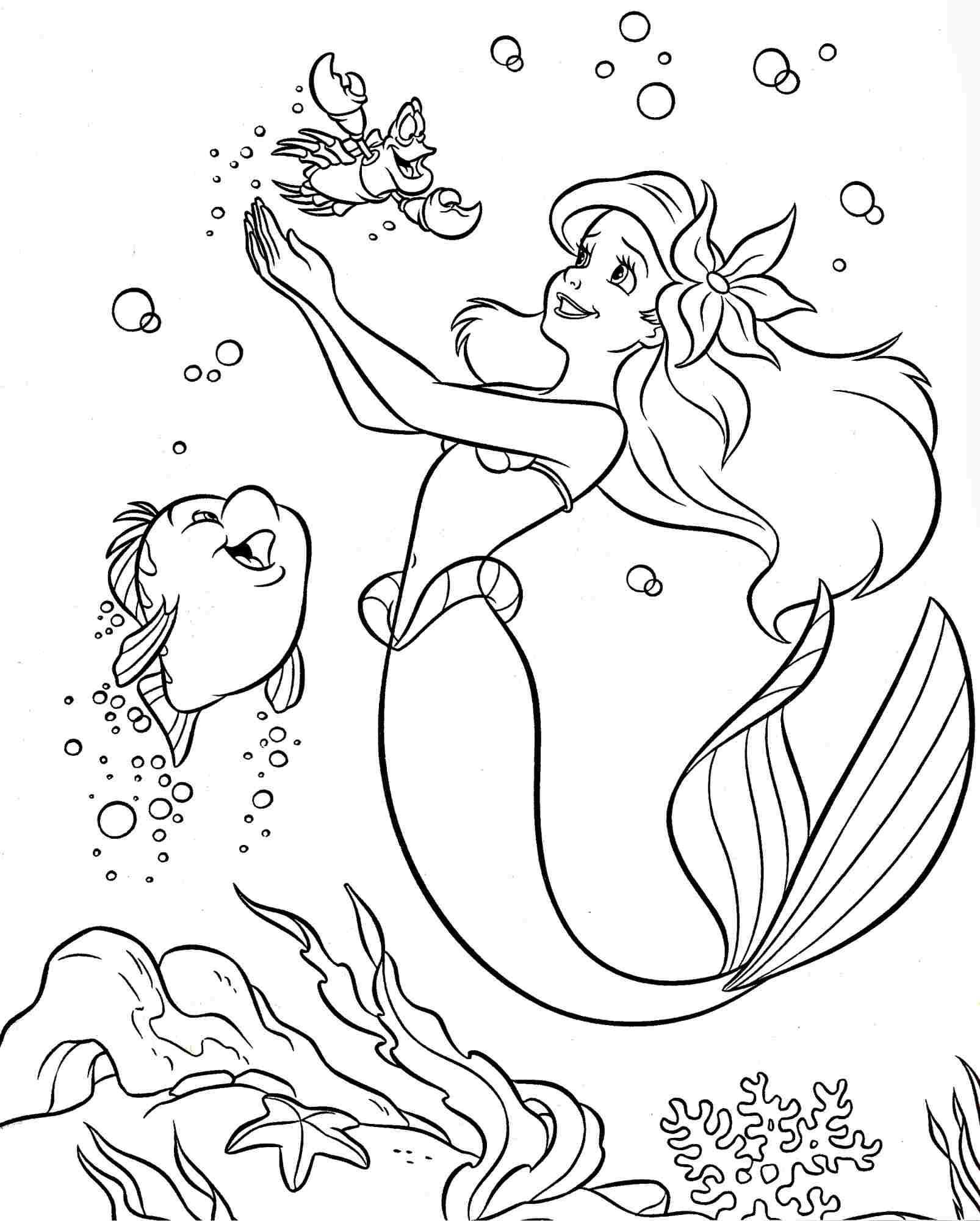 Colouring Pages Coloring Pages Disney Princess Little Mermaid