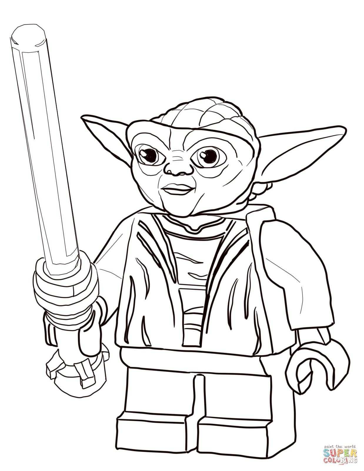 Lego Star Wars Master Yoda Coloring Page Supercoloring Com