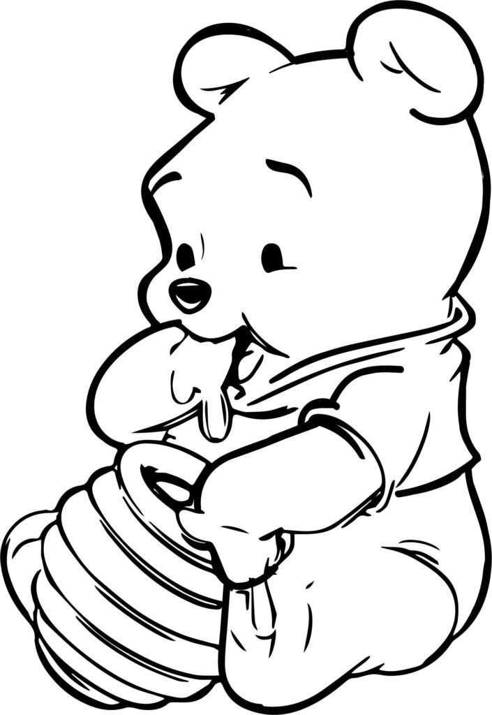Winnie The Pooh Coloring Pages In 2020 Tekeningen Disney Figuren