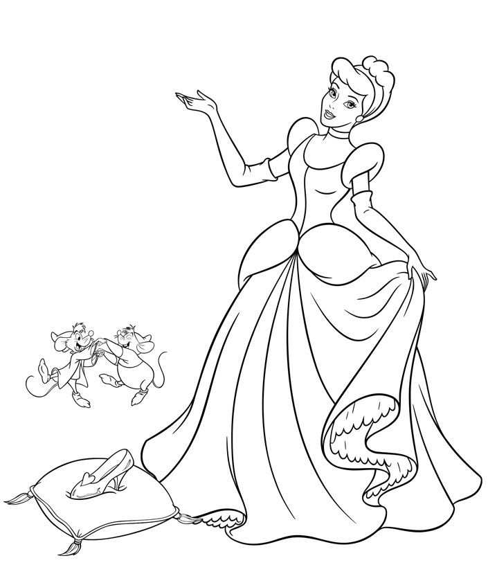 Beautiful Cinderella Coloring Pages For Girls Assepoester