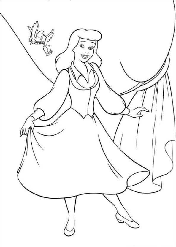 Assepoester Kleurplaat Met Afbeeldingen Kleurplaten Prinses