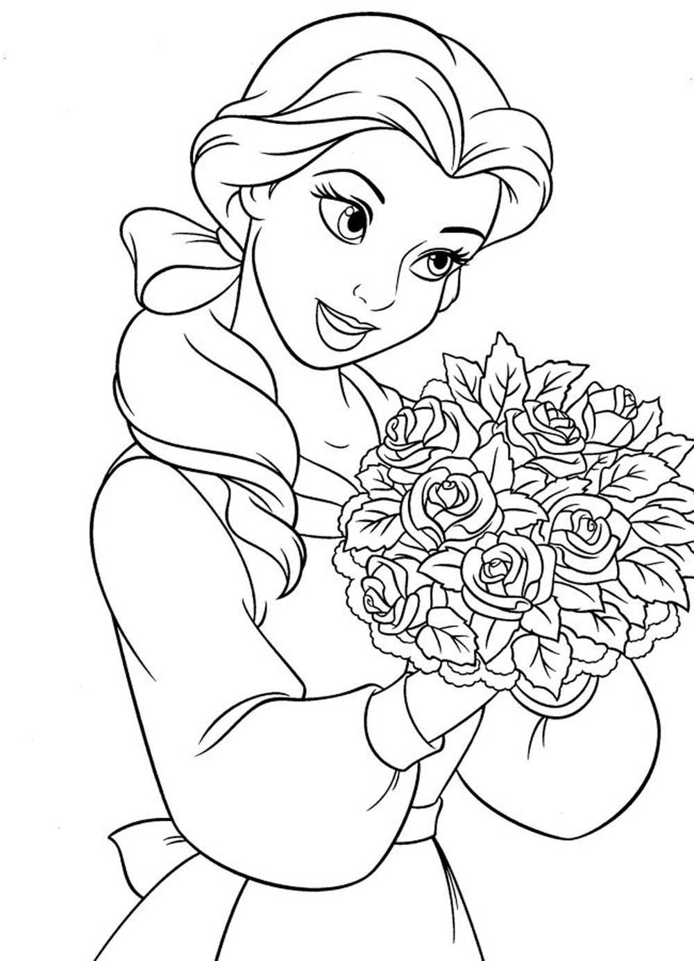 Princess Coloring Pages For Girls Free Large Images