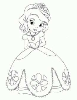 Sofia The First With Images Disney Princess Coloring Pages