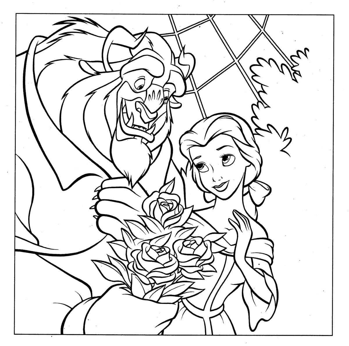 Beauty And The Beast Prinses Kleurplaatjes Kleurplaten Disney