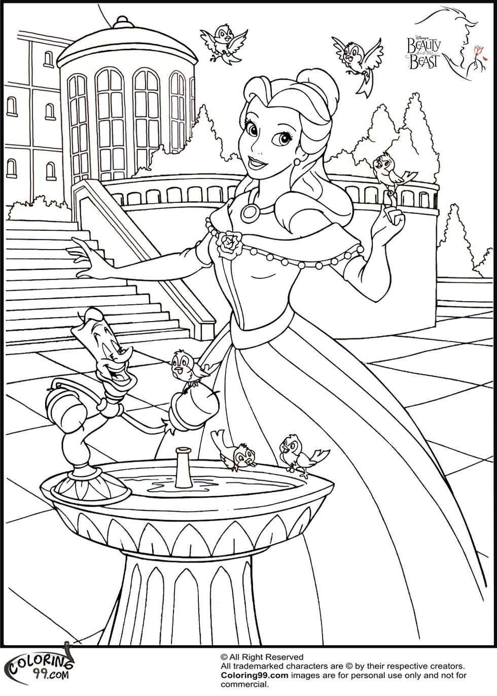 Princess Belle Coloring Pages Home Disney Disney Princess