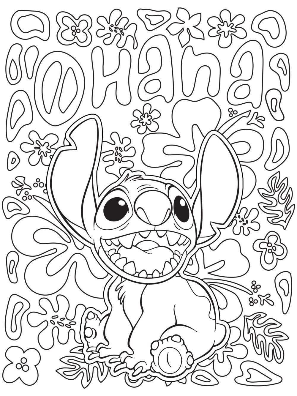 kleurplaat disney stitch