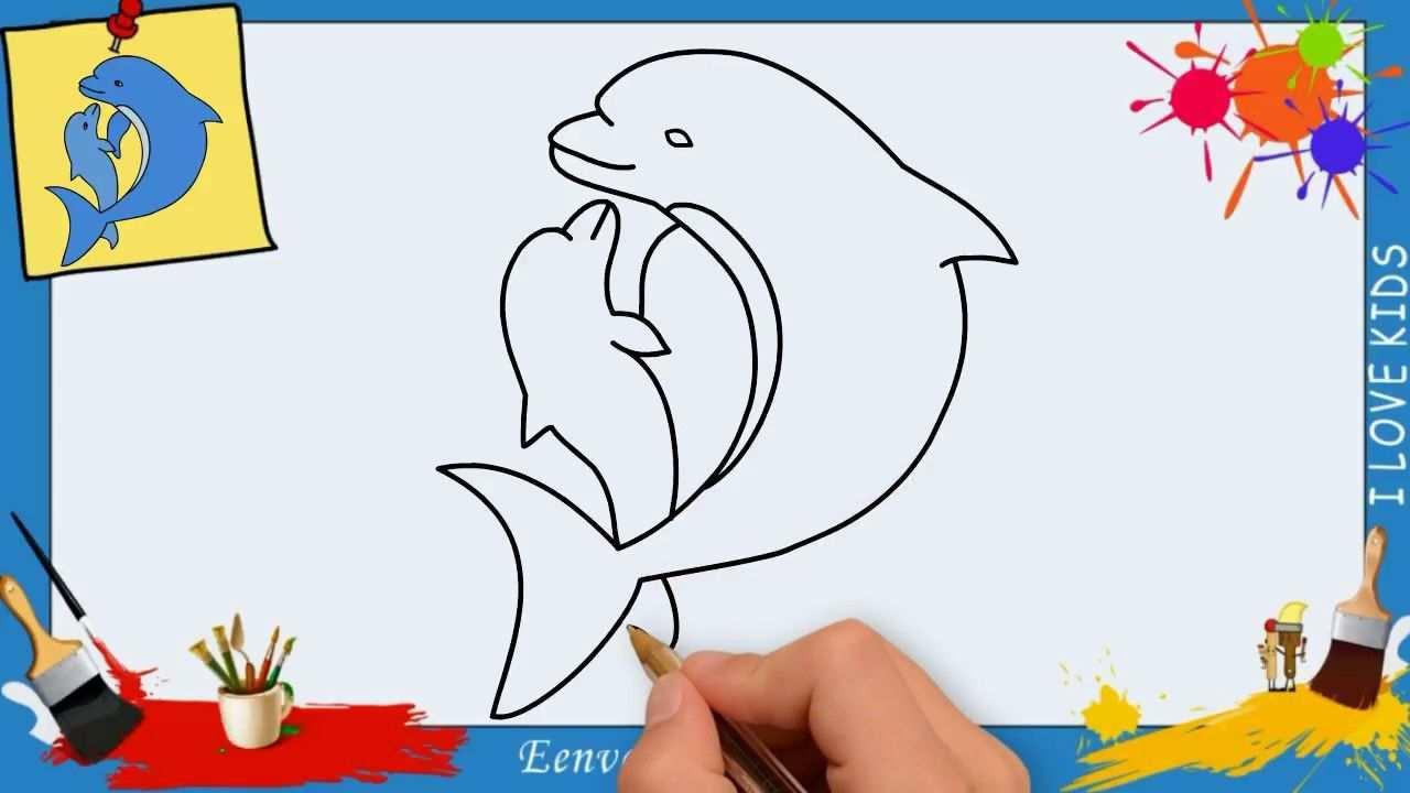 Dolfijn Tekenen Stap Voor Stap 2 Makkelijk Voor Beginners En Kids